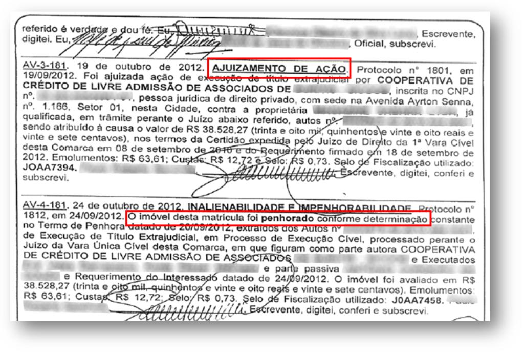 Ajuizamento Acao Matricula 1024x691 - 10 Documentos do Imóvel para Financiamento Imobiliário na CAIXA