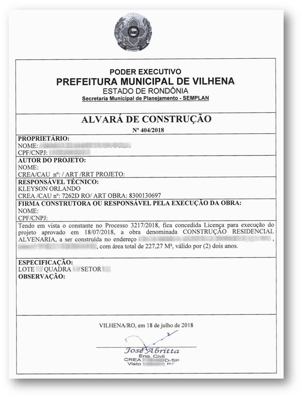 Alvara de Construcao Exemplo 1 - 10 Documentos do Imóvel para Financiamento Imobiliário na CAIXA