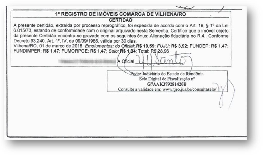 CND Imovel Exemplo 1 1024x605 - 10 Documentos do Imóvel para Financiamento Imobiliário na CAIXA