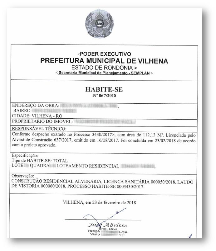 Habite se Exemplo 1 - 10 Documentos do Imóvel para Financiamento Imobiliário na CAIXA