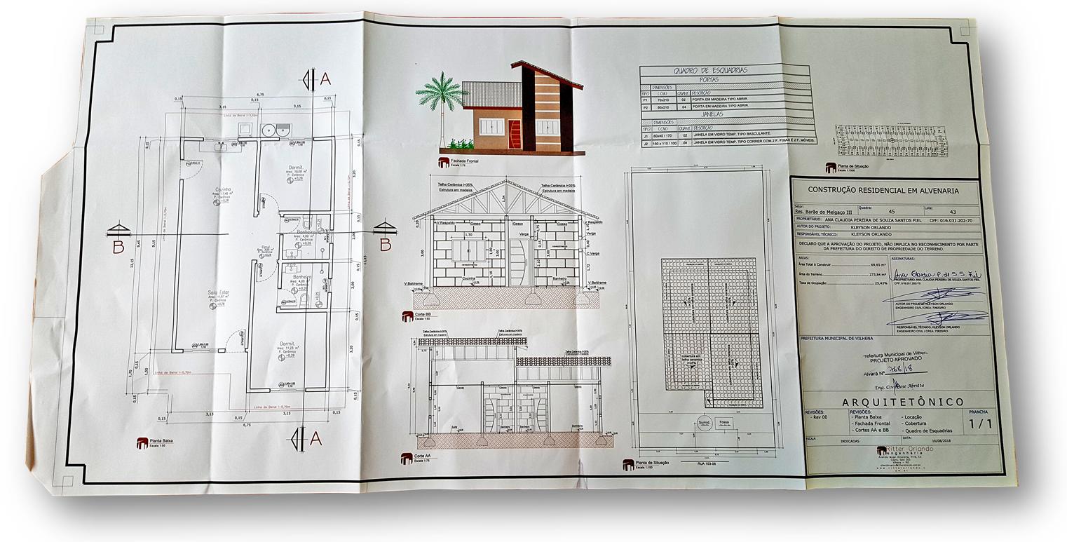 Projeto Arquitetonico Exemplo 1 - 8 Documentos Técnicos para Financiamento Imobiliário na CAIXA