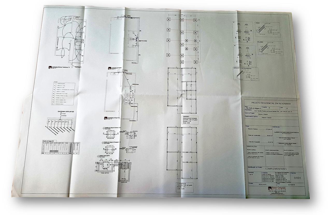 Projeto Complementar Exemplo 1 - 8 Documentos Técnicos para Financiamento Imobiliário na CAIXA