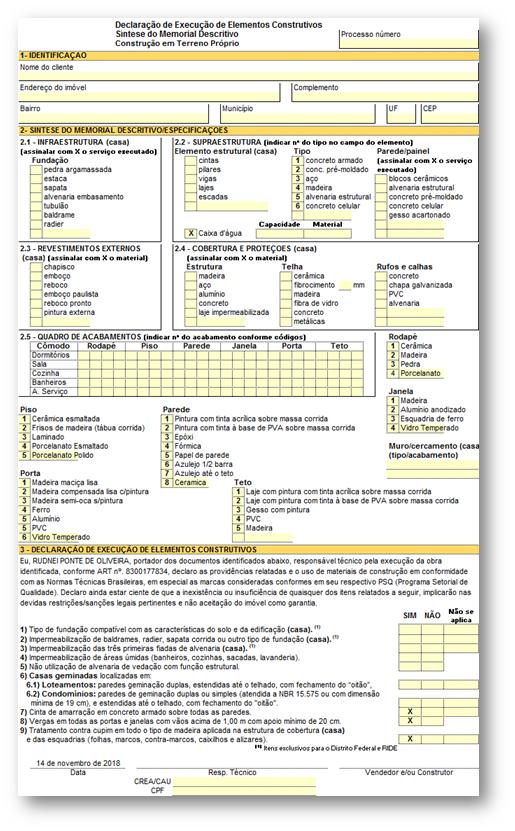 Sintese Memorial Exemplo 1 - 8 Documentos Técnicos para Financiamento Imobiliário na CAIXA