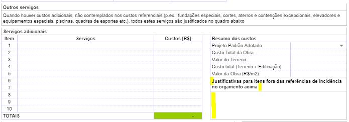 outros servicos - Nova Planilha PFUI Caixa 2021 [ Planilha PCI ] Tutorial Completo